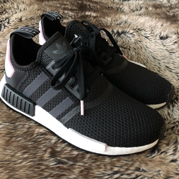 15c78bce6 Adidas NMD R1 Women s Shoes Black Pink